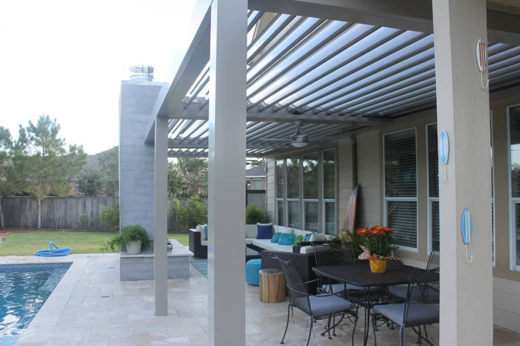 Conroe Louvered Roof​